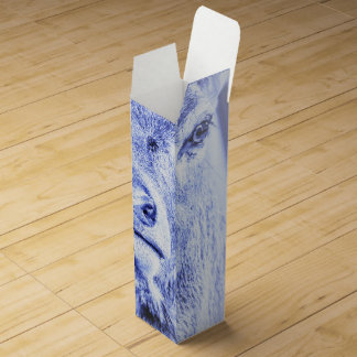 Abstract Blue Deer Wine Gift Box