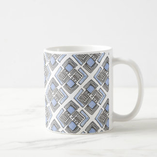 Abstract Blue Diamond - Ink Drawing Mug