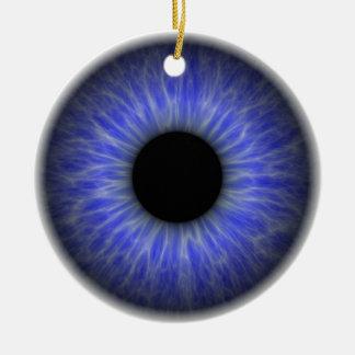 abstract blue eye ceramic ornament