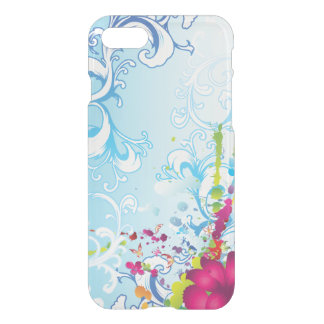 Abstract Blue Floral Fantasy iPhone 7 Case