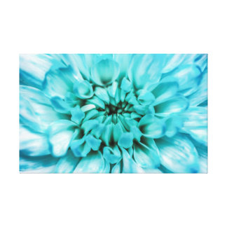Abstract Blue Flower Canvas
