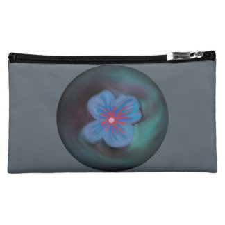Abstract Blue Flower Cosmetic Bag (Medium)