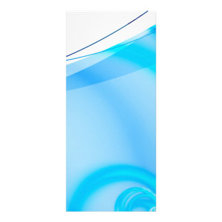 Abstract Blue Fractal Layout Rack Card