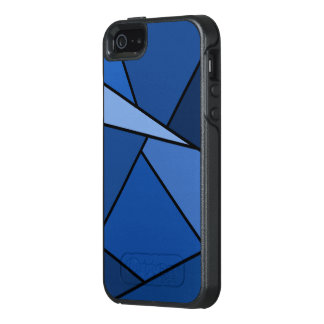 Abstract Blue Geometric Shapes OtterBox iPhone 5/5s/SE Case