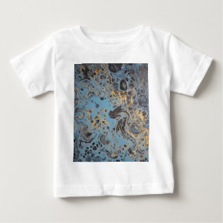 Abstract Blue & Gold Baby T-Shirt