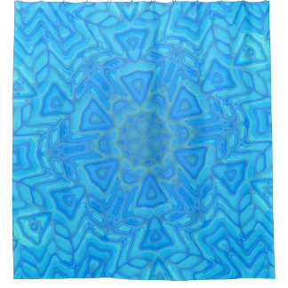 Abstract Blue Green and Turquoise Ice Flower