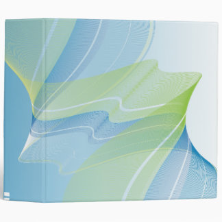 abstract blue green business notebook-01 3 ring binder