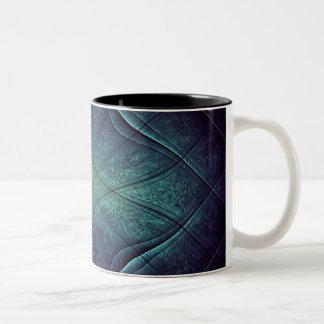 Abstract Blue Green Pattern Coffee Mugs