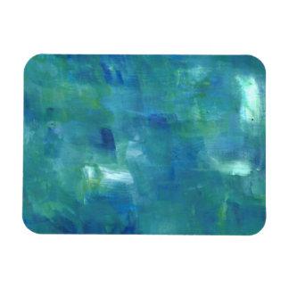 Abstract Blue Green Sentiment. Rectangular Photo Magnet