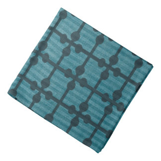 Abstract Blue Grid Design Background Bandana