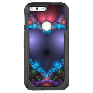 Abstract Blue Heat With Neon Fringe OtterBox Commuter Google Pixel XL Case