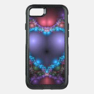 Abstract Blue Heat With Neon Fringe OtterBox Commuter iPhone 8/7 Case
