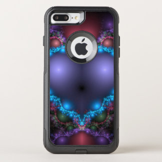 Abstract Blue Heat With Neon Fringe OtterBox Commuter iPhone 8 Plus/7 Plus Case