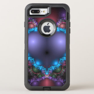 Abstract Blue Heat With Neon Fringe OtterBox Defender iPhone 8 Plus/7 Plus Case