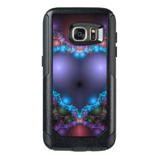 Abstract Blue Heat With Neon Fringe OtterBox Samsung Galaxy S7 Case