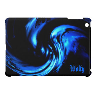 Abstract Blue Howling Of The Wind iPad Mini Case