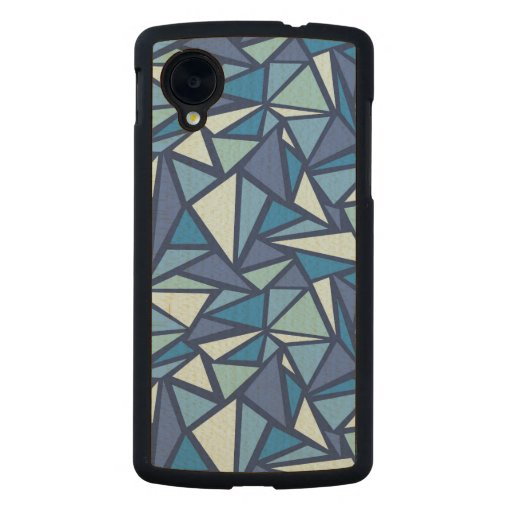 Abstract Blue Ice Crsytal Pattern Carved® Maple Nexus 5 Slim Case