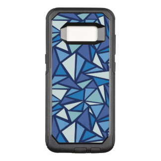Abstract Blue Ice Crsytal Pattern OtterBox Commuter Samsung Galaxy S8 Case