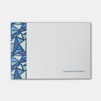 Abstract Blue Ice Crsytal Pattern Sticky Notes
