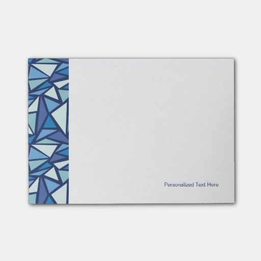 Abstract Blue Ice Crsytal Pattern Post-it® Notes