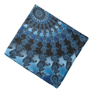 Abstract Blue Ice Pattern Bandana