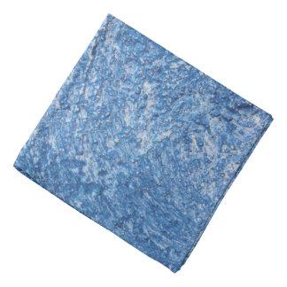 Abstract Blue Ice Pattern Bandana