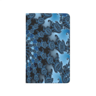 Abstract Blue Ice Pattern Journal