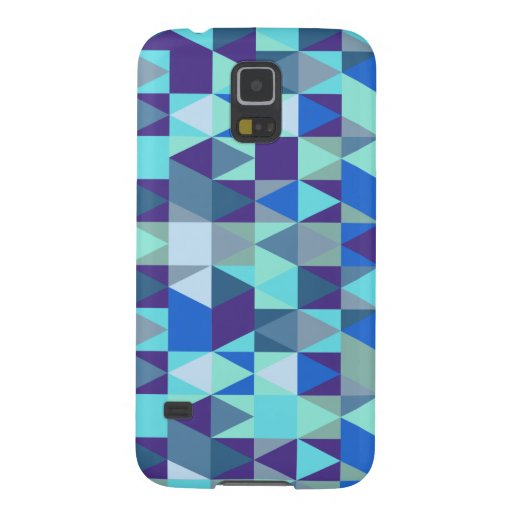 Abstract Blue Isometric Pattern Galaxy Nexus Cases