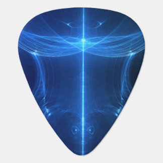 Abstract Blue Light Wave Pick
