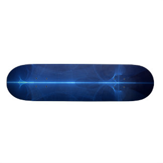 Abstract Blue Light Wave Skateboard Decks