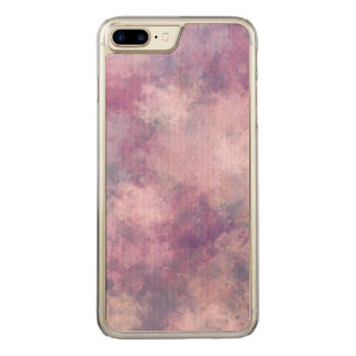 Abstract Blue, Lilac, Pink Acrylic Look Carved iPhone 8 Plus/7 Plus Case