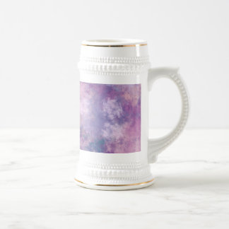 Abstract Blue, Lilac, Pink Acrylic Look Beer Steins