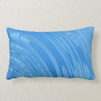 abstract blue metallic texture lumbar pillow