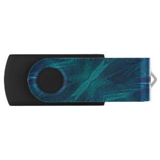 Abstract blue morpho tile swivel USB 3.0 flash drive