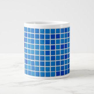 Abstract Blue Mosaic Large Coffee Mug