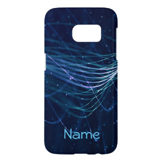 Abstract Blue Name Samsung Galaxy S7 Case