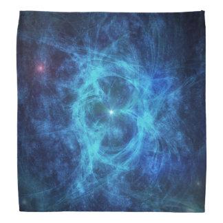 Abstract Blue Nebula Bandana