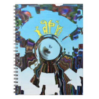 Abstract Blue Notebook