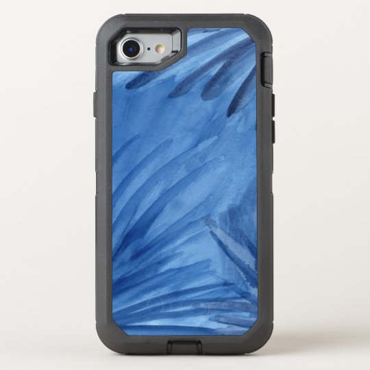Abstract Blue Painted Rays OtterBox Defender iPhone 8/7 Case