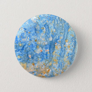 Abstract blue painting 2 inch round button