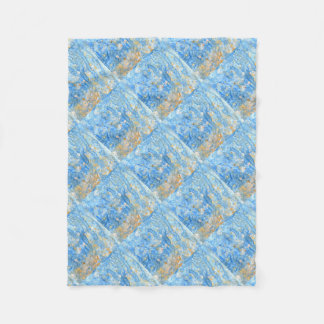 Abstract blue painting fleece blanket