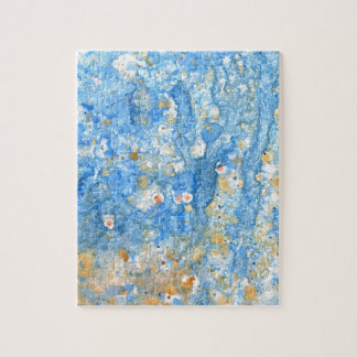 Abstract blue painting jigsaw puzzle