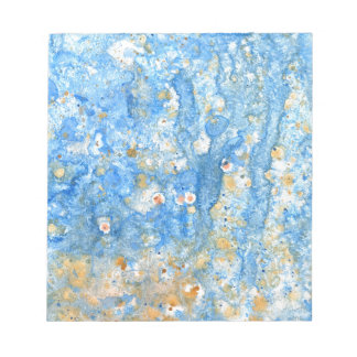 Abstract blue painting notepad
