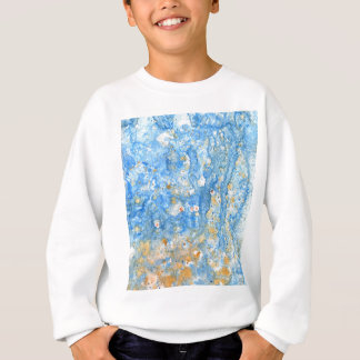 Abstract blue painting sweatshirt