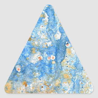 Abstract blue painting triangle sticker
