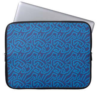 abstract blue pattern computer sleeve