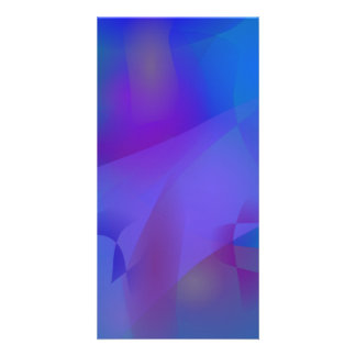 Abstract Blue Personalized Photo Card