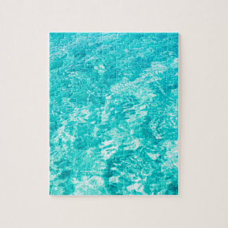Abstract blue puzzles