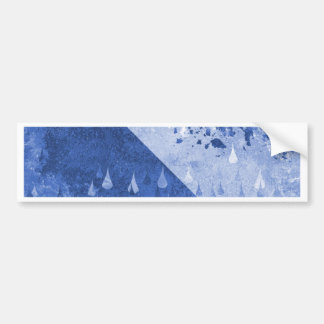 Abstract Blue Rain Drops Design Bumper Sticker