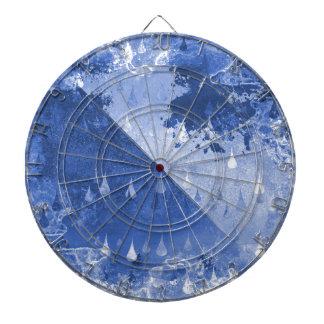 Abstract Blue Rain Drops Design Dartboard